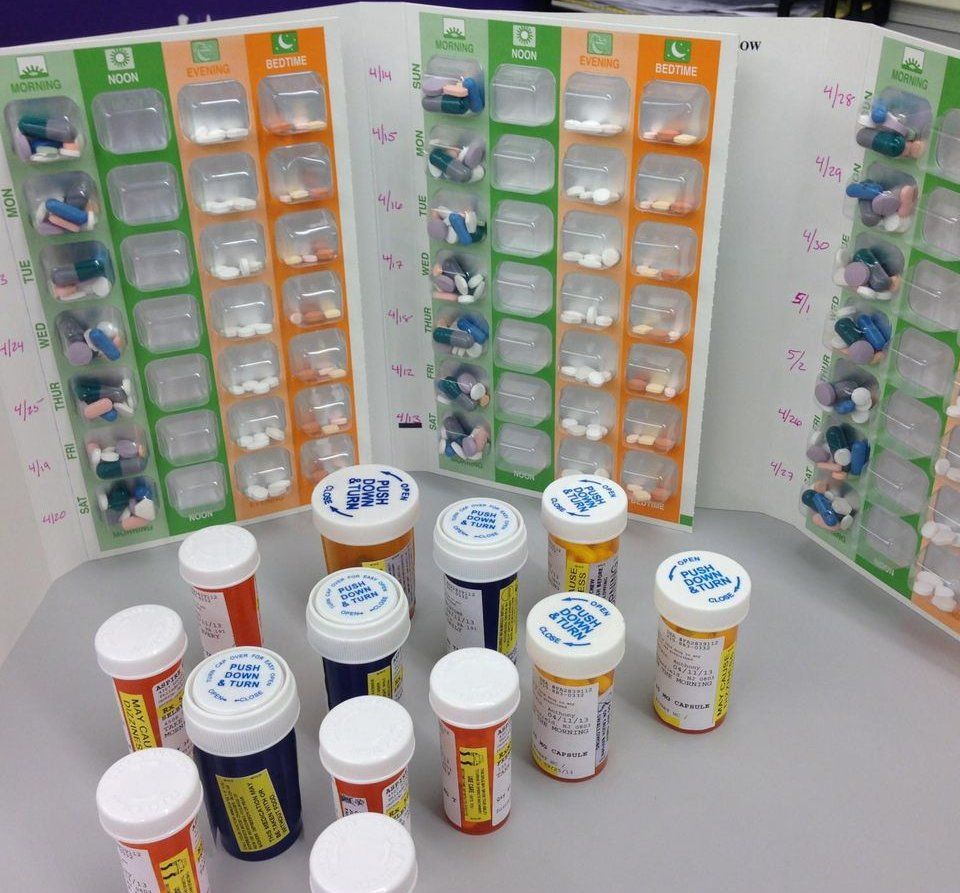 view of various medicines